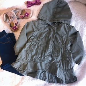 Olive Green Hooded Old Navy Anorak Utility Jacket